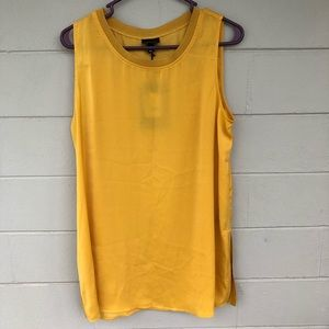 NWT Who What Wear Golden Yellow Tank Top Large